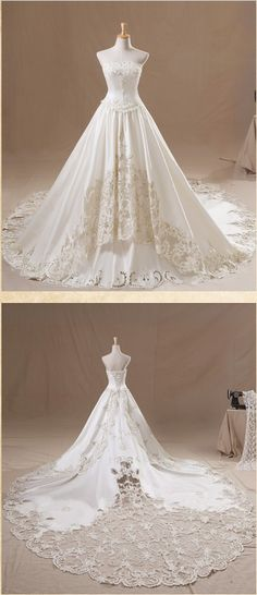 If I could ever afford this wedding dress I wouldn't hesitate. I would buy it in a heartbeat. My never-going-to-happen dream dress.