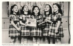 There'll Always be an England.  Canada's Dionne Quintuplets enlisted to sing patriotic songs at the start of World War 2