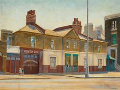 Addington Square by William Innes, 1952 from the Southwark Art Collection Square Art, Art Uk, Your Paintings, Crafts, Wells, Newspaper, Bridge, London, Free