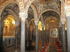 The crypt under Santa Cecilia in Trastevere