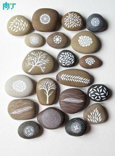 Molto fresco pietra pittura ghiaia Immagine ╭ ★ rete dadini
