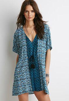 Abstract Print Tasseled Mini Dress | Forever 21 - 2000053640