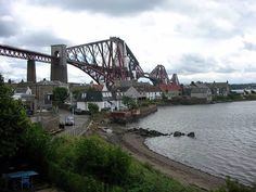 Firth of Forth in South Queensferry, Scotland