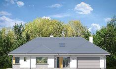 Projekt domu Willa Parterowa 171,76 m2 - koszt budowy - EXTRADOM Dream House Plans, Small House Plans, Classical Architecture, Architecture Design, Civil Construction, Precast Concrete, Concrete Walls, Bungalow House Design, Modern Farmhouse Exterior