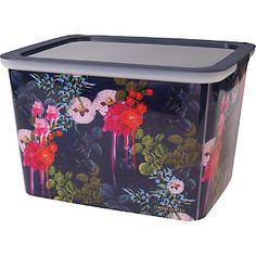 Cynthia Rowley Dk Blue Floral 10 Storg Box