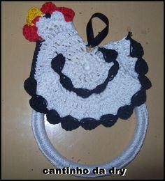 Porta pano de prato galinha | Croches por encomendas | Elo7