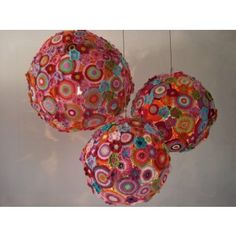How fun!....Crochet Candeliers