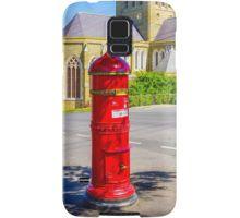 Old Red Post box near Sacred Heart Cathedral - Bendigo, Victoria Samsung Galaxy Case/Skin