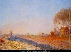 The Plain Of Colombes  White Frost - Claude Oscar Monet - www.claudemonetgallery.org