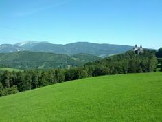 """""""Schneeberg"""" is far left in the picture. This is in Lower Austria South of Vienna. Vienna, Austria, Golf Courses, Photos, Pictures, Leaves, Mountains, Nature, Snow Mountain"""