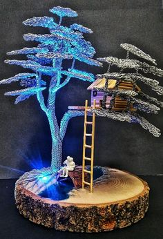 Items similar to Are you looking for an original gift or home decorating? A bonsai tree made of wire will perfectly decorate your home interior. Tree of life on Etsy Wire Art Sculpture, Tree Sculpture, Wire Crafts, Resin Crafts, Corn Dolly, Copper Wire Art, Bonsai Wire, Arte Alien, Wire Wall Art