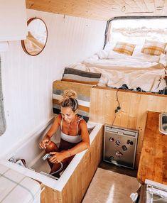 Van Conversion Interior, Camper Van Conversion Diy, Sprinter Van Conversion, Van Conversion How To, Van Conversion Layout, Motorhome Conversions, Bus Life, Camper Life, School Bus Camper