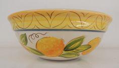 Saladeira Limões Aba Larga - Cerâmica