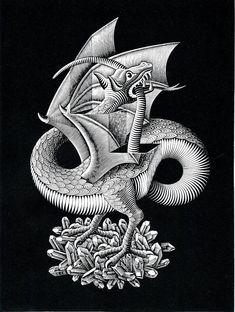 M.C Escher dragon...