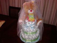 Torta de pañales ,para baby shower!!!