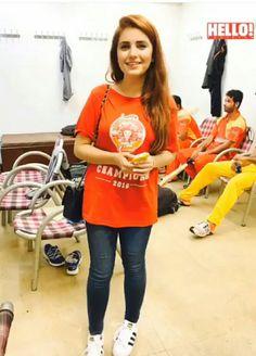 Momina mustehsan today at raealpindi stadium supporting islamabad uniteds