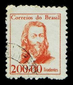 Selo dos Correios do Brasil em homenagem a Tiradentes.