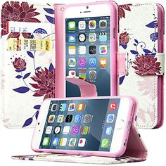 iPhone 6S Folio Wallet Case, Dimaka Design Flower PU Leat...…