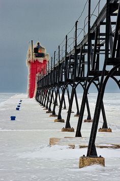 South Haven South Pier Lighthouse, South Haven, Michigan