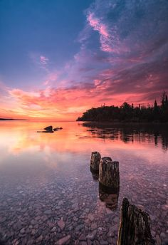 ***Clearing skies at sunset (coast of Lake Superior, Minnesota) by Nance Knauer on 500px