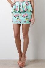 Flourishing Flower Skirt