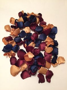 Navy Rose Petals/Gold Rose Petals/Burgundy Rose Petals/Navy Wedding Decor/Country Wedding/Maroon Rose Petals/Gold Wedding/Autumn Wedding by GardenRosePartyDecor on Etsy https://www.etsy.com/listing/494634460/navy-rose-petalsgold-rose-petalsburgundy