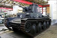 The Panzer 38(t) light Tank saw operational service in Poland in 1939 and the battle of France in 1940. This German Panzer 38(t) Tank can be found at the Deutsches Panzermuseum in Munster, Germany.