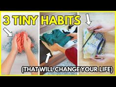 3 Little Habits That Changed My Life. - YouTube Change My Life, Setting Goals, How To Know, Declutter, Frugal, Productivity, Evolution, Helpful Hints, Organizing