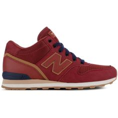 New Balance Outdoor High Ankle Lace Up Sneakers ($90) ❤ liked on Polyvore featuring shoes, sneakers, genuine leather shoes, leather shoes, new balance shoes, round cap and real leather shoes
