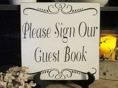 Please Sign Our Guest Book Wedding Sign by DaisyPatchPrimitives, $34.99