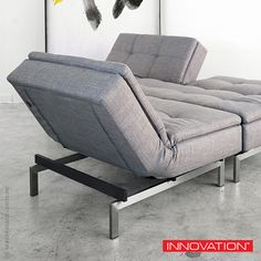 Can be used as a separate chair or as a chaise long, Innovation USA Dublexo Deluxe Chair. #Innovation #chair #chaise #PerWeiss Available at metropolitandecor.com  http://www.metropolitandecor.com/Dublexo-Deluxe-Chair-Innovation-USA_p_2651.html