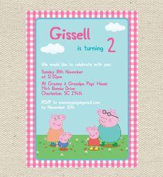 Peppa Pig Birthday Invitation Printable via Etsy