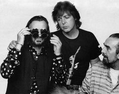 George Harrison, Paul McCartney and Ringo Starr (photo by Linda Eastman).