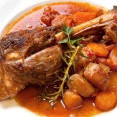 Slow Cooked Red Wine Lamb Shanks @ allrecipes.com.au