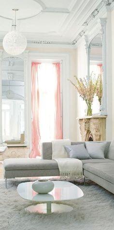 luminous living room with soft grey sofa