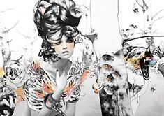 ClickforArt   Artist Page 'Fairale Girl' by #Vault49 Limited Edition print available in 3 sizes from £39.00
