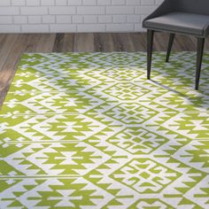 Found it at Wayfair - Lime Green/Ivory Indoor/Outdoor Area Rug