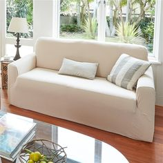 These covers are designed to fit both regular armchairs and the more generous 'American style' designs. The fabric stretches for a neat, c. Online Clothing Stores, Stretches, Sofas, Innovation, Armchair, Cabin, Couch, Furniture, Design