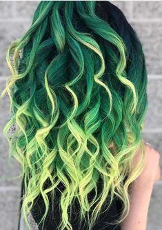 Amazing Dark Green Hair Colors with Yellow Highlights - Amie Lynn - . Amazing Dark Green Hair Colors with Yellow Highlights - Amie Lynn - . Dark Green Hair, Green Hair Colors, Black Hair, Emerald Green Hair, Yellow Hair, Hair Color Brush, Cool Hair Color, Hair Styles 2016, Curly Hair Styles