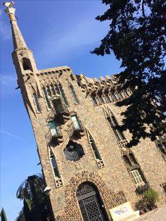 Gaudi's Bellesguard. A wealthy widow in 1900 Barcelona hired Gaudi to design her summer home!!