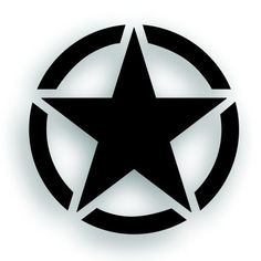 Upgrade the look of your Jeep with the Military Invasion Star With Circle Decal for Jeep Wrangler. We offer the lowest prices on everything Wrangler! Jeep Decals, Vinyl Decals, Star Tattoos, Body Art Tattoos, Jeep Wrangler Upgrades, Black Background Images, Forearm Tattoo Design, Logo Sticker, Art Graphique