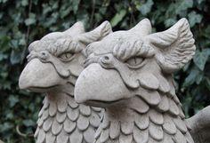 Gartendekoration - Greif Fabelwesen Beschützer Torwächter Vogel Stein - ein Designerstück von Stone-and-home-de bei DaWanda