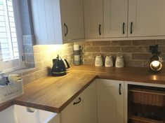 Just made another coffee ☕️ tumblr dryer going so house smells lovely I've wiped round bathrooms ect and bleached the loo's #goodhousekeeping #cleanhomehappyhome #kitchendesign