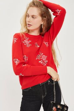 d488366369 China Floral Embroidered Sweater - New In Fashion - New In