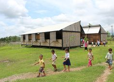 building trust enables portable moving school for refugees - designboom | architecture