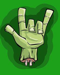 rock zombie hand