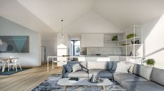 Open Plan Living and Kitchen