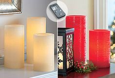 Light Illusion LED Pillar Candles #PartyLite