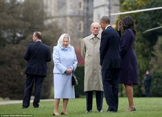 Good-natured: The two couples have met several times before in the years since Mr Obama became President in 2009