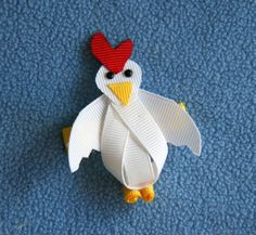 Chicken Hen Rooster Farm Ribbon Sculpture by CelticTideCreations, $4.75